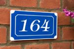 Any Number and or letters | French style House  Plaque | Blue and white Custom door sign